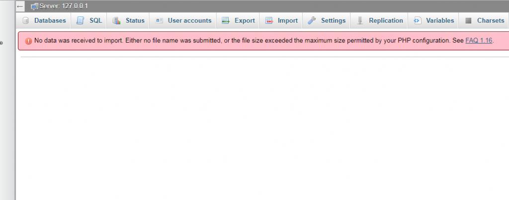 large database file upload error